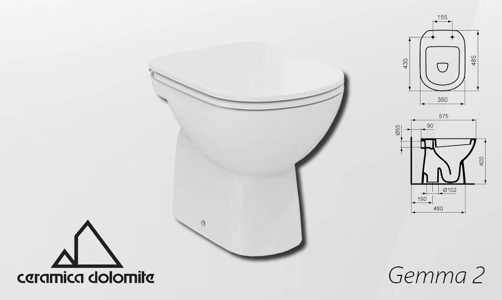 Ceramica Dolomite Gemma 2.Skoljka Gemma 2